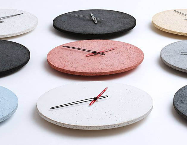 betónové hodiny