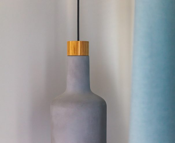 betónové svietidlo